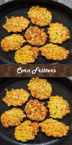 Corn Fritters #Corn #Fritters Corn Fritters, Juice, Roast, Tacos, Eggs, Ethnic Recipes, Sweet, Food, Meal