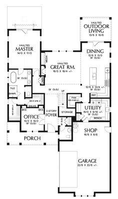 This farmhouse design floor plan is 2490 sq ft and has 3 bedrooms and has bathrooms. Farmhouse Design, Modern Farmhouse, Farmhouse Style, House Plans 2 Story, Best House Plans, Farmhouse Floor Plans, Good House, Modern Country, How To Plan