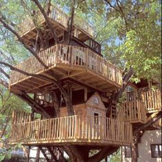 This would be such an awesome tree house!! My husband is, amazingly, capable of doing this!