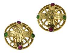 Chanel Vintage Gripoix Byzantine Earrings