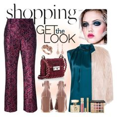 """""""Get the look"""" by pamphil ❤ liked on Polyvore featuring Lanvin, Gianvito Rossi, Gucci, Yves Saint Laurent, Sans Souci, Smith & Cult, tarte and Effy Jewelry"""