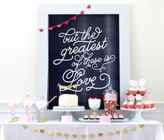 Pink and Gold Valentine's Day Party with Lots of Really Cute Ideas via Kara's Party Ideas KarasPartyIdeas.com #PinkParty #PartyIdeas #Suppli...