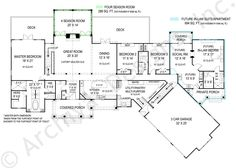 First Floor: Sq. Second Floor: 488 Sq. Pepperwood In-law suite Ranch House Plan - First Floor This is an amazing floor plan! I can already picture me and my family here! Perfect with the in-law suite off to the side! House Plans One Story, Ranch House Plans, Dream House Plans, House Floor Plans, Ranch Floor Plans, House Plans 3 Bedroom, Country Style House Plans, Country Style Homes, Story House