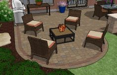 Beautiful Patio Designs with Cozy Fire Pit Areas.