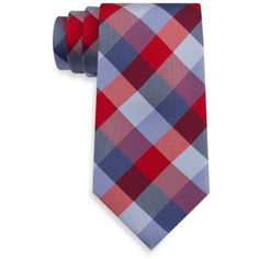 Tommy Hilfiger Redblue Buffalo Tartan Tie (4320 RSD) ❤ liked on Polyvore featuring men's fashion, men's accessories, men's neckwear and ties