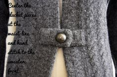 Turn his sweater into yours with this tutorial