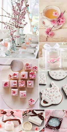 It's cherry blossom season and there are so many ways to incorporate these blooms in to your parties this spring! From flowers to food and favors, here is some inspiration for showering a mom-to-be or even a bride-to-be with all things cherry blossom-inspired: