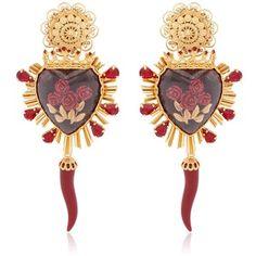 DOLCE & GABBANA Sacred Heart & Rose Earrings
