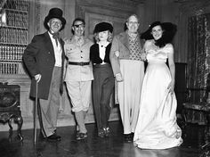 Marion Davies and William Randolph Hearst | Jack Warner, Raoul Walsh, Marion Davies, William Randolph Hearst & Mrs. Walsh 1938...Heart's bday ...