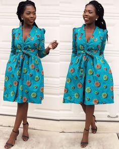 Les femmes africaines ankara au genou longueur par Veroexshop