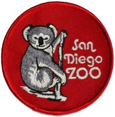 San Diego Zoo Iron On Travel Souvenir Applique by YourPatchStore