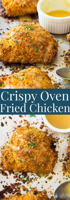 Crispy Oven Fried Chicken Thighs - Recipes to try -You can find Chicken thigh recipes oven and more on our website.Crispy Oven Fried Chicken Thighs - Recipes to try - Chicken Thigh Recipes Oven, Oven Fried Chicken Thighs, Healthy Fried Chicken, Baked Fried Chicken, Chicken Thights Recipes, Crispy Oven Fries, Crispy Oven Fried Chicken, Breaded Chicken Recipes, Fries In The Oven