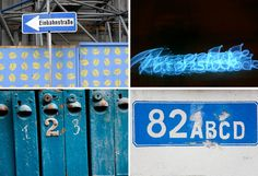 Typografie in Blau - blue typography photographs
