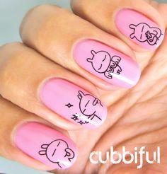 розовые ногти каваи