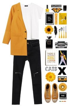"""Were's the good in goodbye.."" by iesie ❤ liked on Polyvore featuring MANGO, Monki, Converse, ASOS, ArteHouse, Tattly, Toast, WALL, Burt's Bees and Butter London"