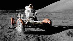 NASA: Astronaut Eugene Cernan drives the Lunar Roving Vehicle during first EVA Programme Apollo, Apollo Program, Michael Collins, Eugene Cernan, Moon Buggy, Orion Spacecraft, Nasa Solar System, Nasa Photos, Brazil
