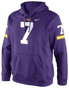 LSU Tigers Purple Nike Football Jersey Hooded Sweatshirt
