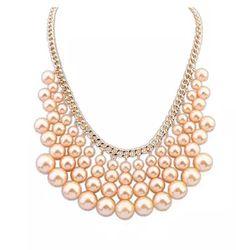2016新しいステートメントネックレス女性ブランド模擬パールネックレス&ペンダントチョーカーネックレス女性の宝石ビジュー卸売