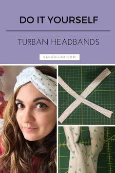 DIY Turban Style Headbands   DIY Fashion and Easy Sewing Tutorial