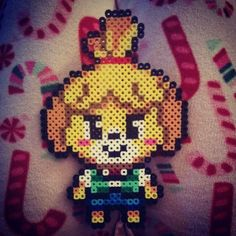 Isabelle Animal Crossing perler beads by ashcassell