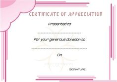 Thank You For Donation Certificate Template  Donation Certificate