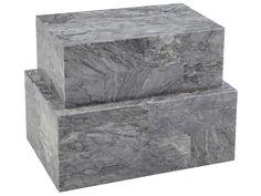 """Eaton Marble Box Set, 11""""L"""