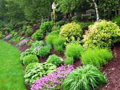 landscape design ideas for sloping front yards - Google Search