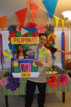 Fiesta Theme Party, Party Themes, Filipino Wedding, School Items, International Day, Photo Booth Props, Pinoy, School Projects, Philippines