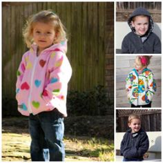 The Cozy Coat - Reversible Fleece Jacket with Hood or Collar 2 to 12 years | Sewing Pattern | YouCanMakeThis.com