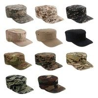 Wish | Unisex Camouflage Military Octagon Hat Army Ranger RipStop Soldier Cap Combat Hats for Outdoor Sports