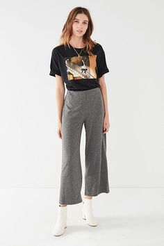 UO Ant Knit Straight Cropped Pant