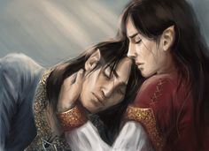 Fëanor and Fingolfin in Mandos