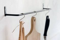 Multipurpose Black Iron Towel Bars from Japan: Remodelista