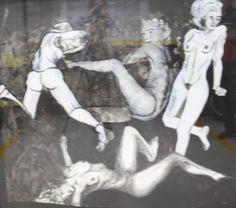 Série Lilith Dança Preto e Branco 2009 140x150 1, Statue, Ceramic Sculptures, Contemporary Art, Black And White, Paper, Paintings, Artists, Sculptures