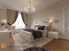 Дизайн спальни в стиле американской неоклассики