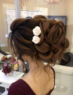 Long Wedding Hairstyles & Bridal Updos via Elstile / www.deerpearlflow… Long Wedding Hairstyles & Bridal Updos via…Top 30 Long Wedding Hairstyles for Bride from and See why You Can't Miss These 30 Wedding… Wedding Hairstyles For Long Hair, Wedding Hair And Makeup, Bride Hairstyles, Cool Hairstyles, Hairstyle Ideas, Bridesmaid Hairstyles, Teenage Hairstyles, Casual Hairstyles, Medium Hairstyles