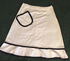 43c3535472f6f Neesh by D.A.R. Off White Skirt w pocket detail Small
