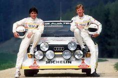 Walter Röhrl - Christian Geistdörfer Audi Quattro, Audi 1, Audi Motorsport, Audi Sport, Rally Car, Four Wheel Drive, Car And Driver, Car Show, Super Cars