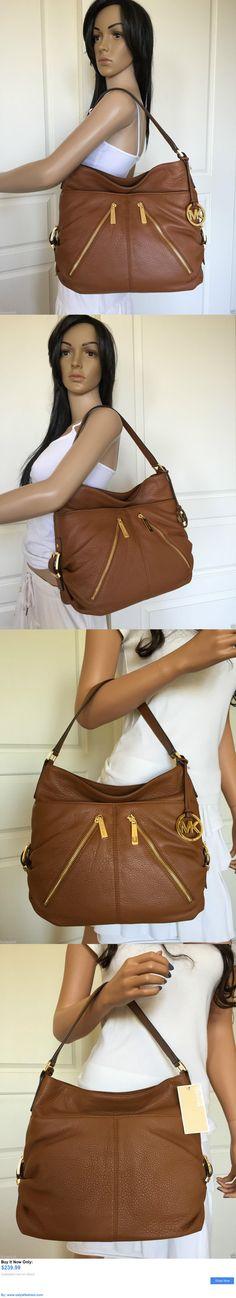 Women handbags and bags: Nwt Michael Kors Large Luggage (Brown) Leather Hobo Shoulder Bag Purse Handbag BUY IT NOW ONLY: $239.99 #ustylefashionWomenhandbagsandbags OR #ustylefashion