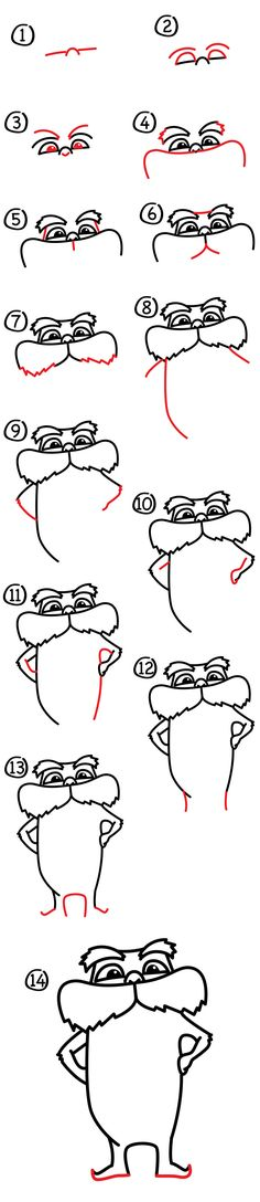 Learn how to draw The Lorax with us! Watch the short video and follow along, these steps are made especially for kids.