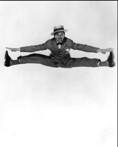 """Ray Bolger (a) From """"Philippe Halsman's Jump Book"""" (1959) — reissued by Abrams (1986)."""