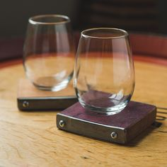 Wine Barrel Project Coasters