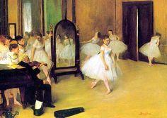 Edgar+Degas,+The+Dancing+Class,+19+×+27+cm,+oil+on+panel,+1870,+at+Metropolitan+Museum+of+Art,+New+York+City,+United+States.jpg (1024×731)