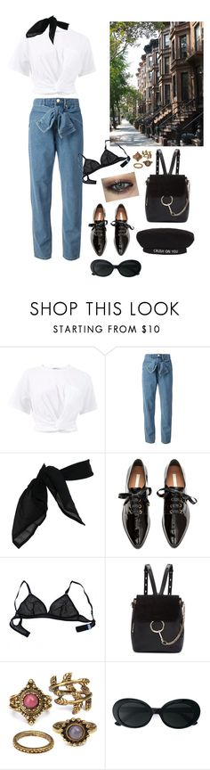 """""""Untitled #156"""" by moudhi-75 ❤ liked on Polyvore featuring T By Alexander Wang, DKNY, TC Fine Intimates, Brownstone, H&M, Eres, Chloé and Yves Saint Laurent"""