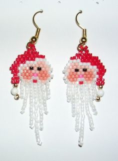 New Christmas earring for your next party...or were these the same as last time?? christmas women jewelry: beaded earrings