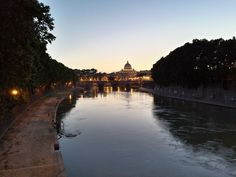 Dawn on the Tevere river