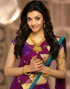 Kajal Aggarwal is an Indian film actress and model. Here are few pic's of Kajal in beautiful gold and diamond jewellery sets . Indian Actress Hot Pics, Most Beautiful Indian Actress, South Indian Actress, Beautiful Actresses, Indian Actresses, Kajal Agarwal Saree, Saree Photoshoot, Images Wallpaper, Wallpaper Gallery