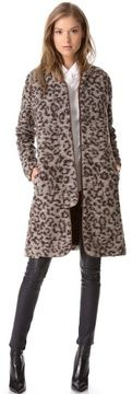 Thakoon addition Leopard Coat with Leather Trim on shopstyle.com