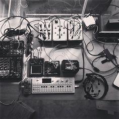awesome setup by Leslie Garcia #ctm #cdm @pkirn #op1 #oplab #teenageengineering by teenageengineering
