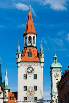Munich, Germany-Clock Towers